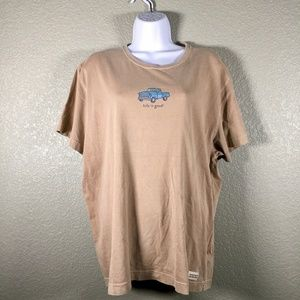 Life Is Good Truck tan t-shirt short sleeve XL